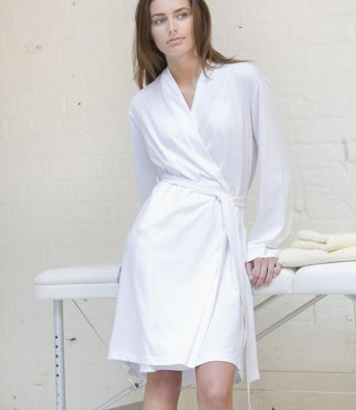 personalised white gowns