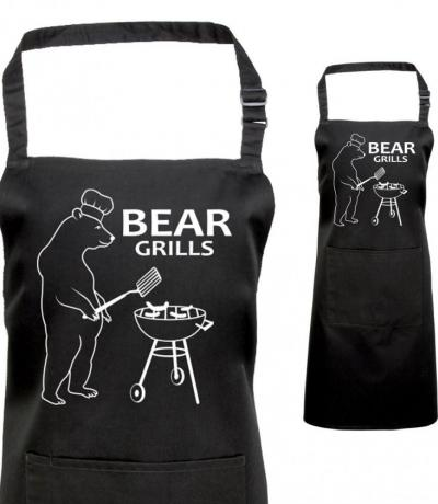 Printed Bear Grills Apron, Fan of Bear Grylls