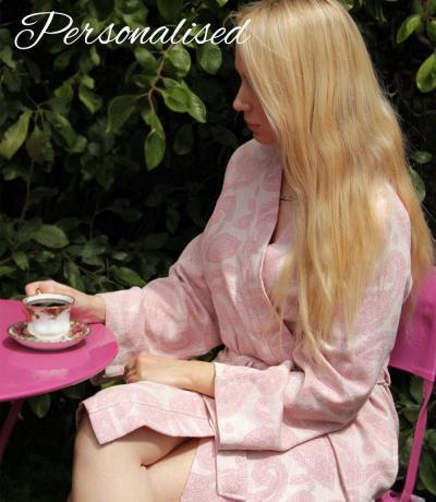 Pink Summer / Beach Peshtemal Dressing Gown Bathrobe