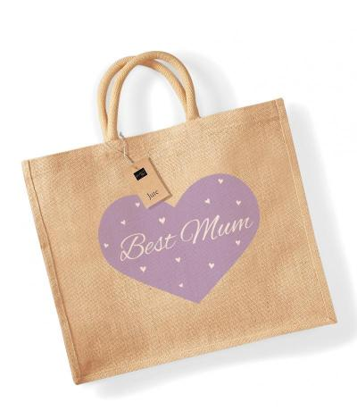 'Best Mum' Jute Bag