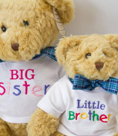 Big sister little brother teddy bears