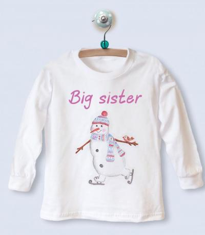 big sister christmas top