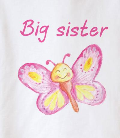 big sister top with butterfly