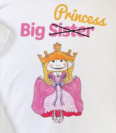big sister top with princess
