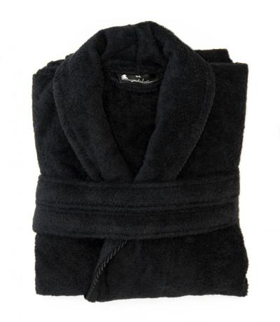 black personalised bathrobes
