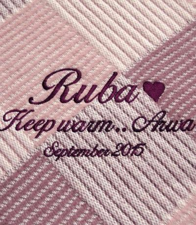 personalised throw blanket uk