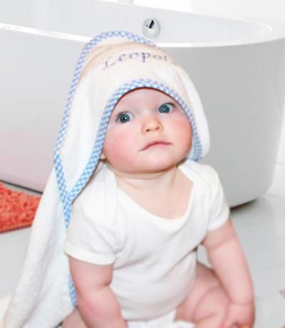 baby towels blue
