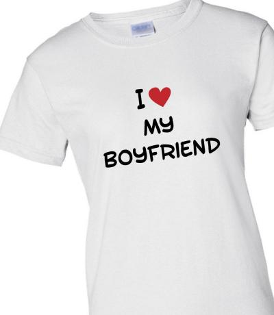 'I Love My Boyfriend' T-shirt