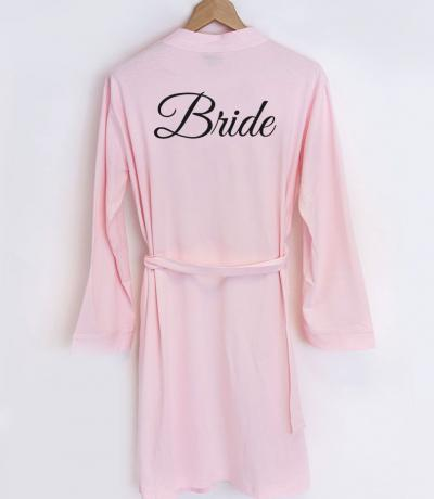 bride to be dressing gown pink