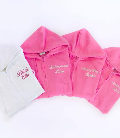 personalised bridesmaid hoodies