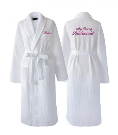 wedding waffle dressing gowns