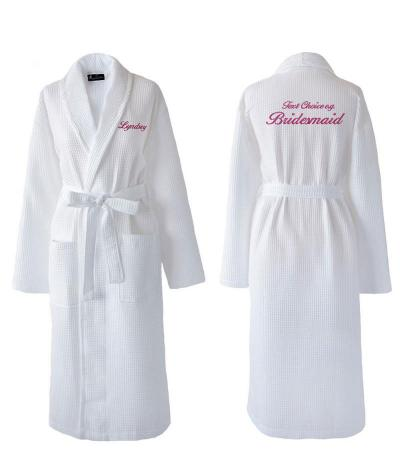 02a34cae396 Personalised Bridesmaid Dressing Gowns | Wedding - WithCongratulations