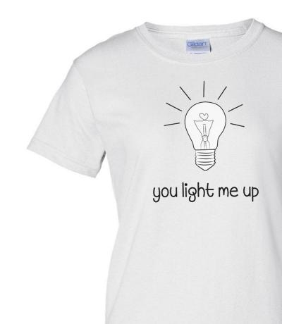 You Light Me Up Bulb T-shirt