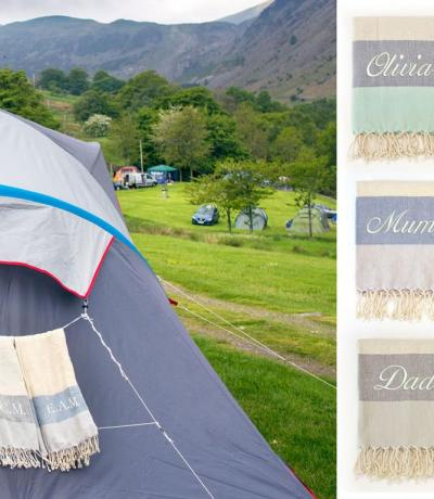 personalised camping towels