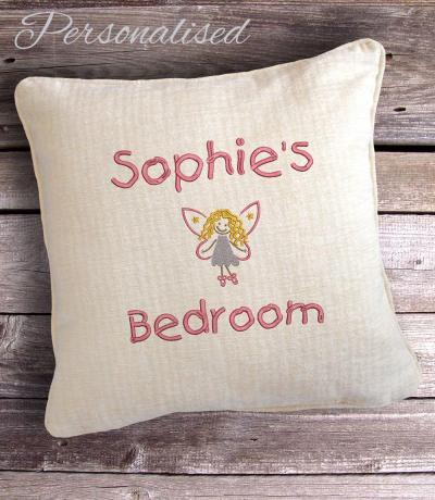 personalised children's fairy cushion