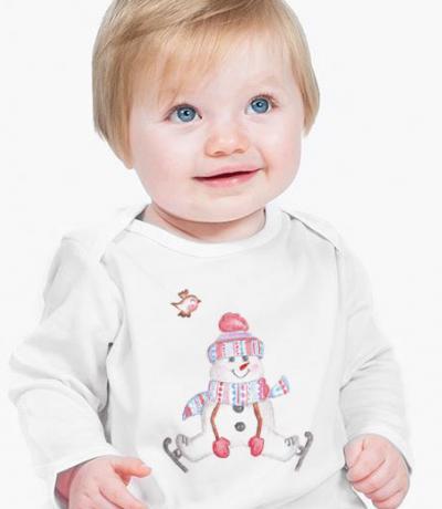 christmas babygrow with snowman