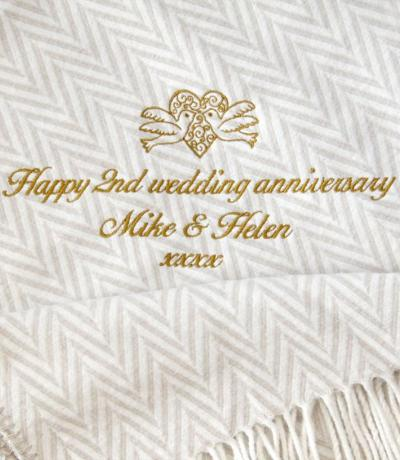 Personalised Cotton Anniversary Gift