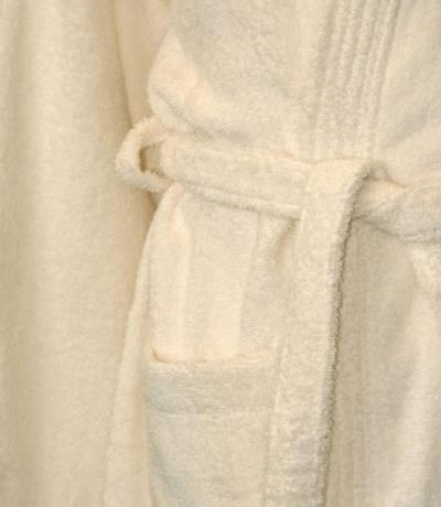 Personalised Bathrobe, Dressing Gown - Cream