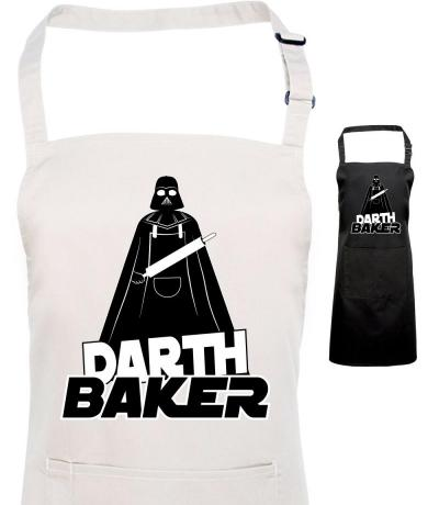 Printed Darth Baker Apron, Fan of Star Wars & Darth Vader