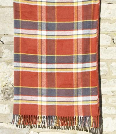 Orange Check Blanket