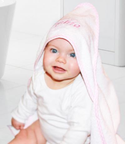 baby towel pink