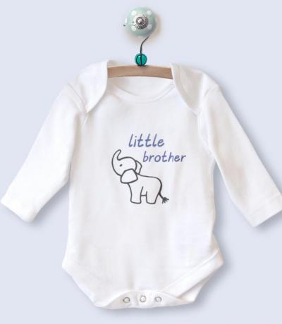 Little Brother Long Sleeve Babygrow Top
