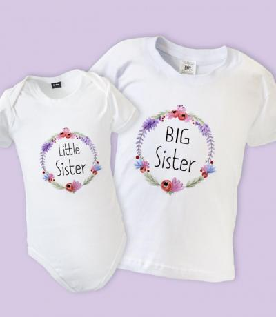 Big Sister Little Sister Floral Matching Outfit