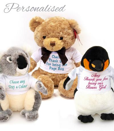 Personalised Flower Girl / Page Boy Teddy