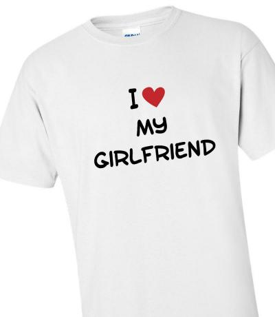 'I Love My Girlfriend' T-shirt