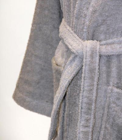 Personalised Bathrobe, Dressing Gown - Grey
