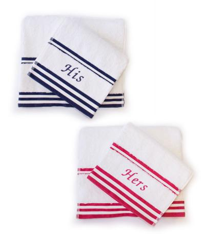 His and Hers Towel Set