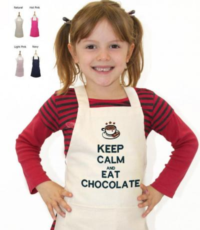 Children's Apron, Keep Calm & Eat Chocolate