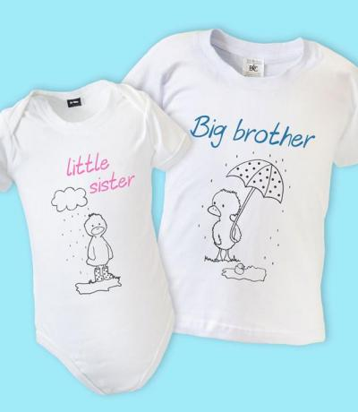 big brother little sister matching t-shirts
