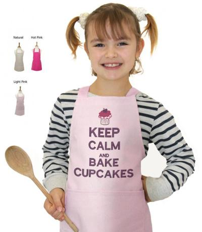 Children's Apron, Keep Calm & Bake Cupcakes