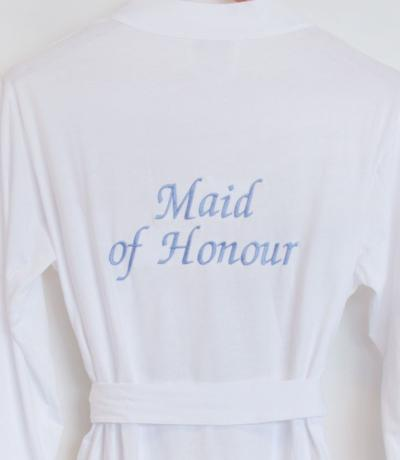 maid of honour dressing gown