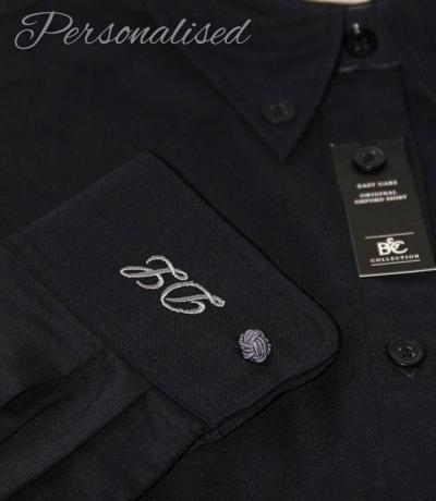 Personalised Monogrammed Black Shirt