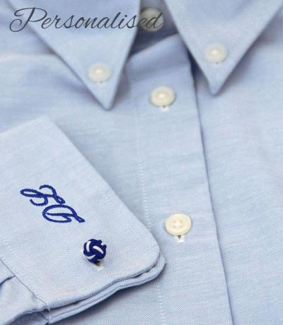 Personalised Monogrammed Blue Shirt