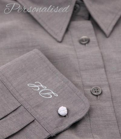 Personalised Monogrammed Grey Blouse