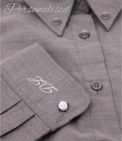 Personalised Monogrammed Grey Shirt