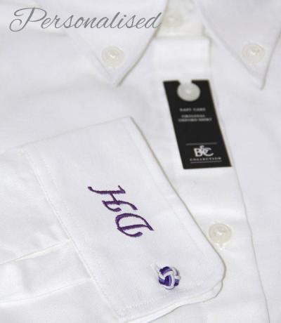 Personalised Monogrammed White Shirt