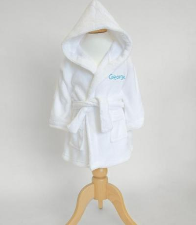 personalised baby dressing gown