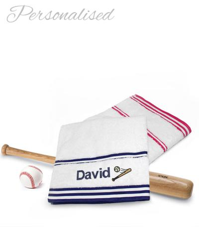 Personalised Baseball Towel