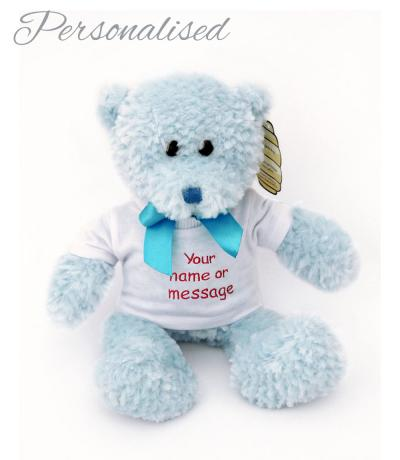 Personalised Blue Teddy Bear with T-shirt