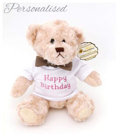 Personalised Brown Teddy Bear with T-shirt