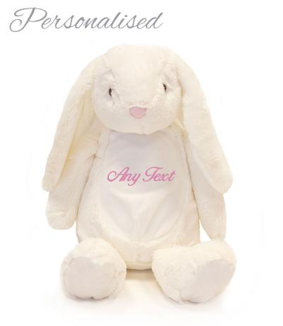 Personalised Large Zippie Bunny Rabbit Soft Toy