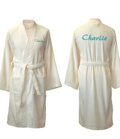 personalised dressing gowns cream