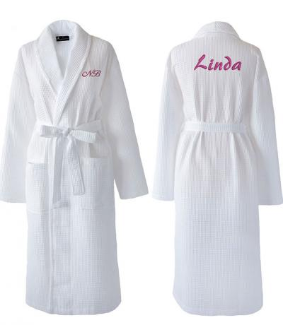 personalised dressing gowns waffle