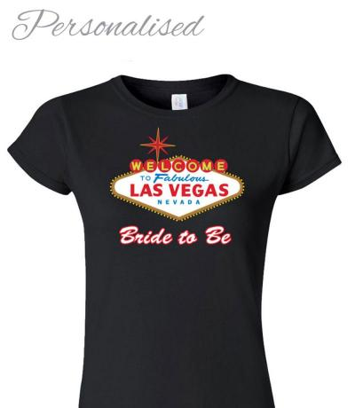Personalised Hen Night T-shirt, Las Vegas