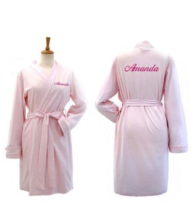 personalised jersey robe