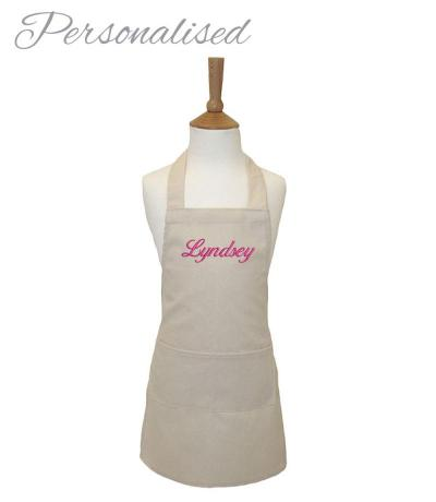 Personalised Kid's Cotton Apron - Natural